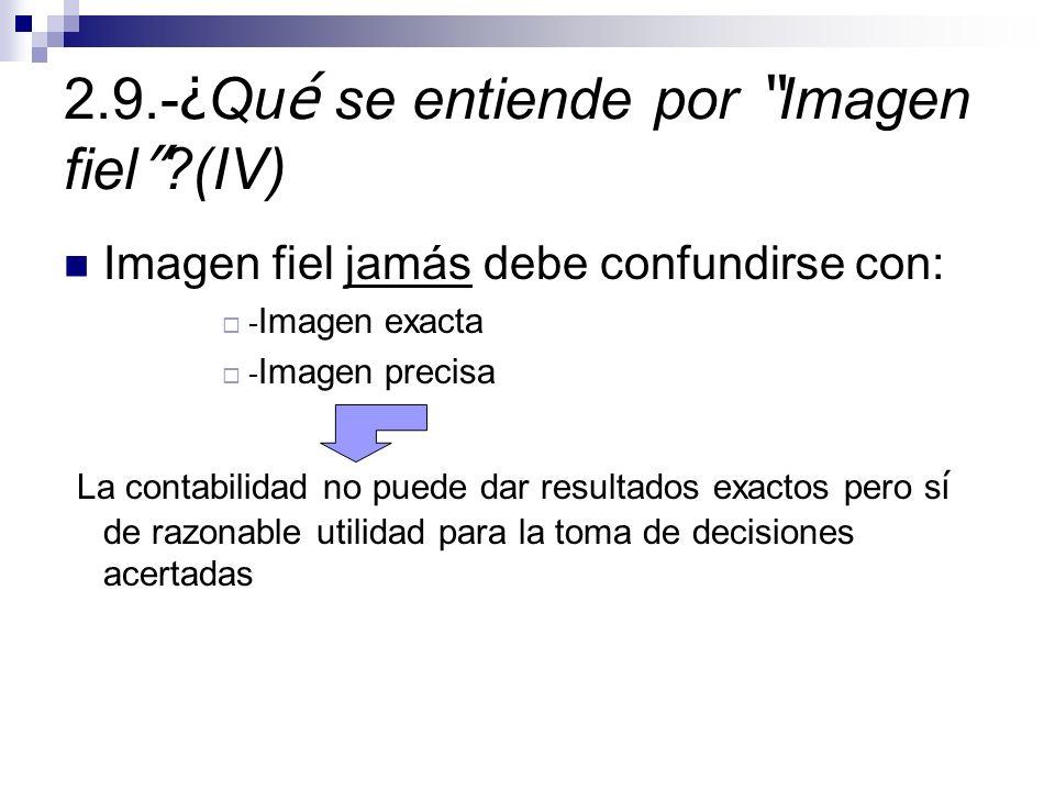 2.9.-¿Qué se entiende por Imagen fiel (IV)