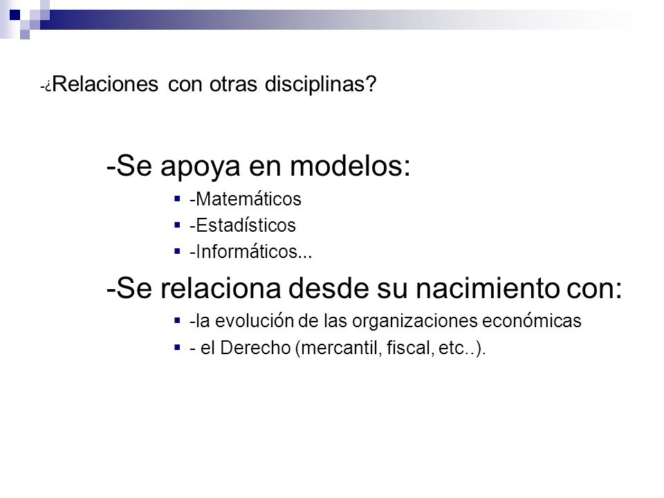 -¿Relaciones con otras disciplinas