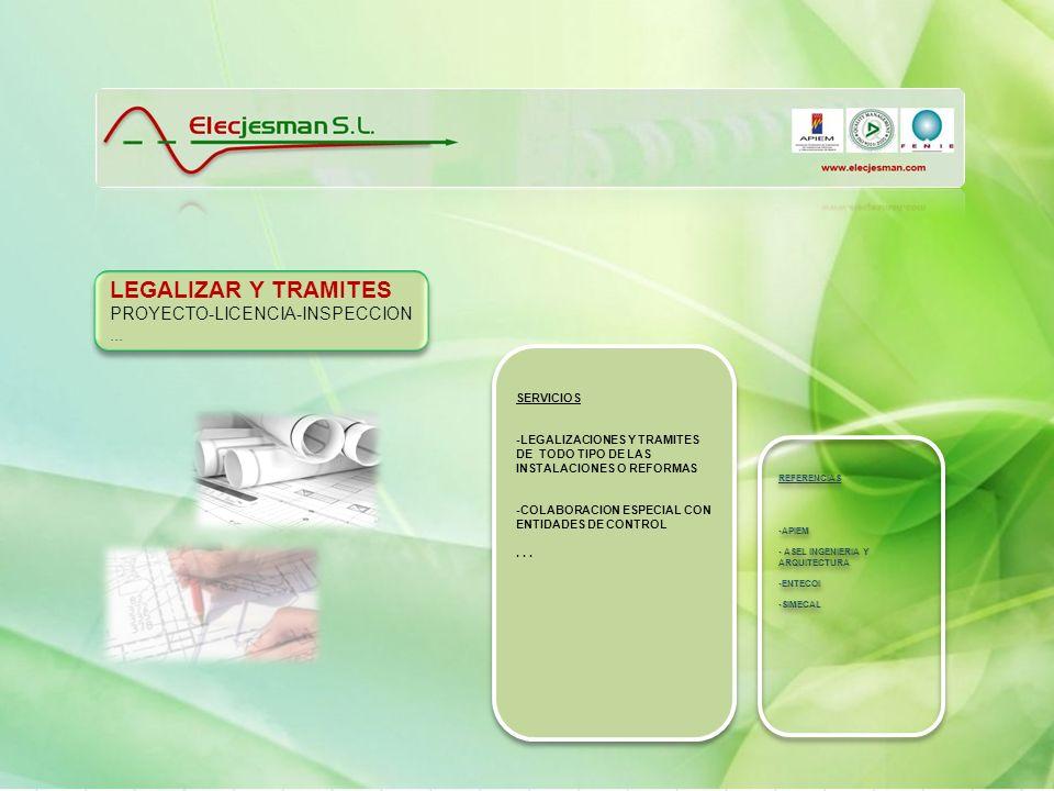 LEGALIZAR Y TRAMITES PROYECTO-LICENCIA-INSPECCION ... SERVICIOS