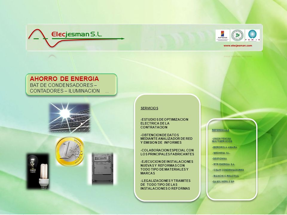 AHORRO DE ENERGIA BAT DE CONDENSADORES – CONTADORES – ILUMINACION ...