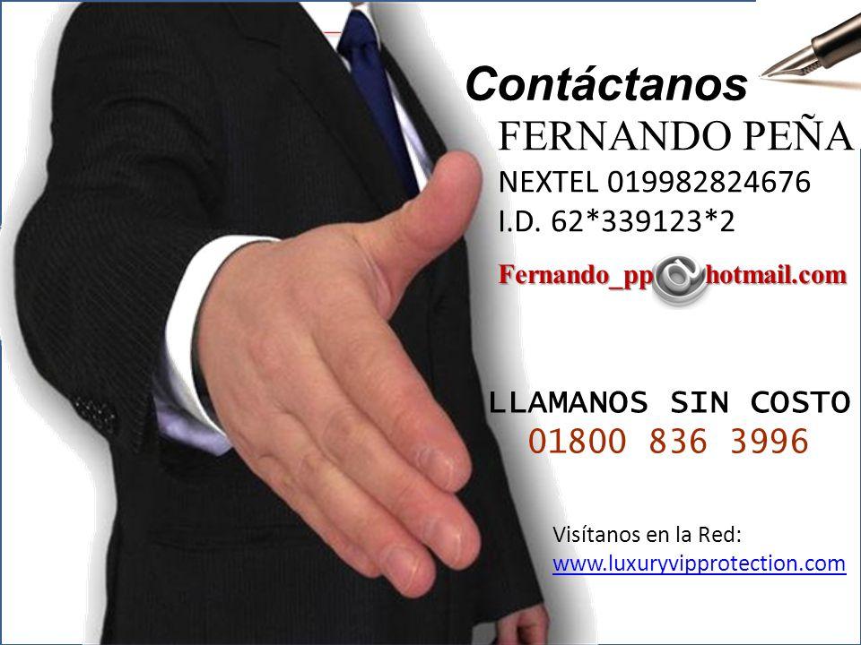 Contacto Contáctanos FERNANDO PEÑA NEXTEL 019982824676