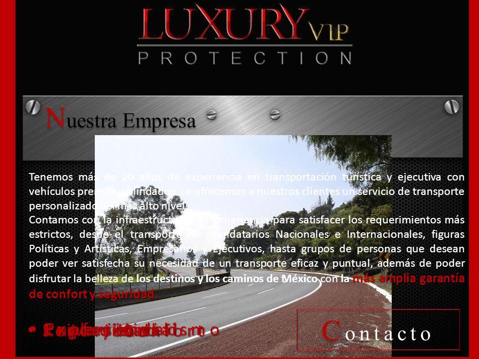 Nuestra Empresa Contacto Exclusividad Seguridad Privacidad Experiencia
