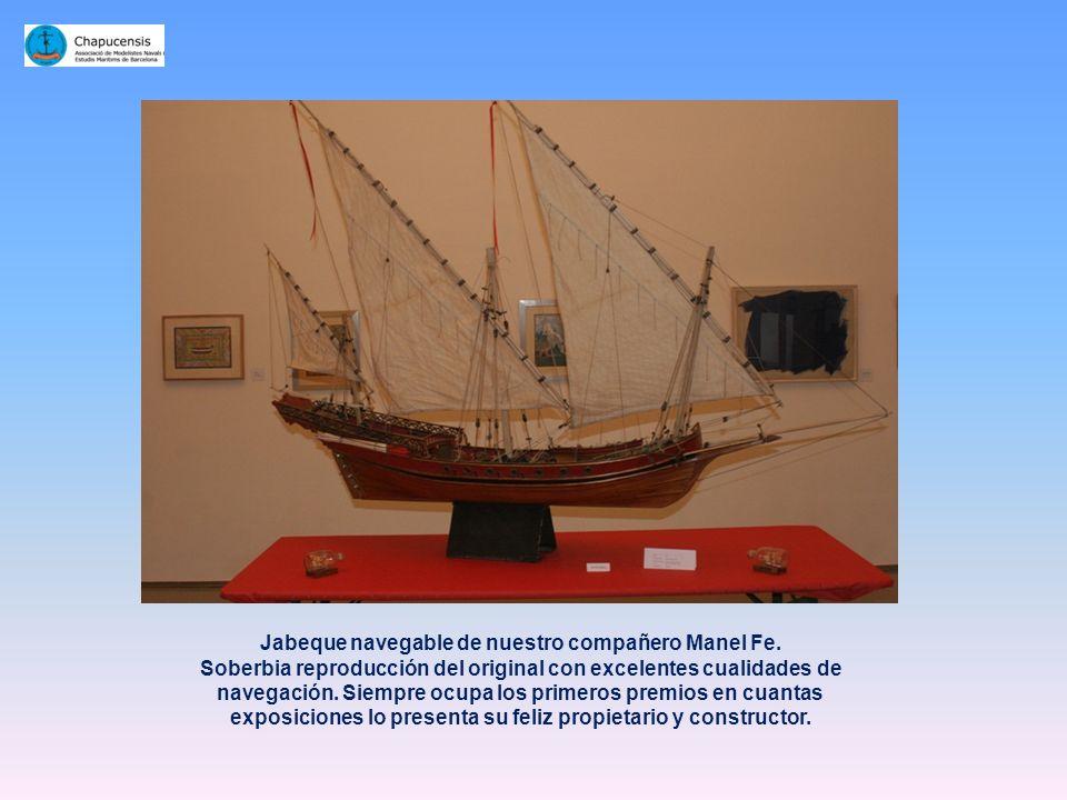 Jabeque navegable de nuestro compañero Manel Fe.