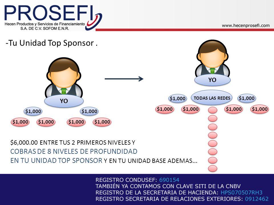 -Tu Unidad Top Sponsor . COBRAS DE 8 NIVELES DE PROFUNDIDAD
