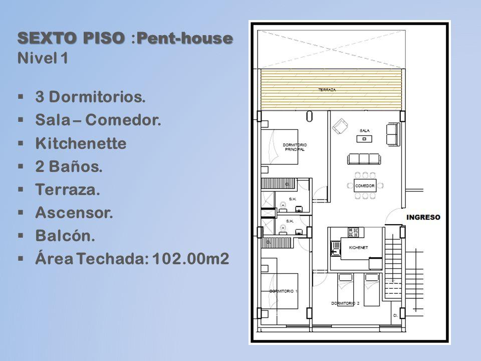 SEXTO PISO :Pent-house Nivel 1