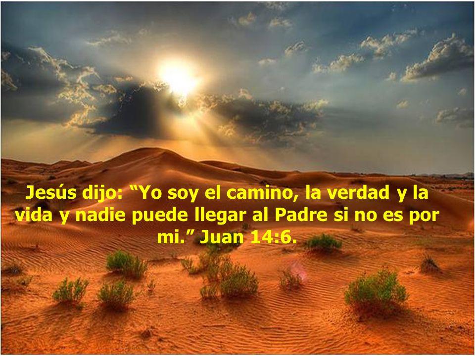 Jesús dijo: Yo soy el camino, la verdad y la vida y nadie puede llegar al Padre si no es por mi. Juan 14:6.
