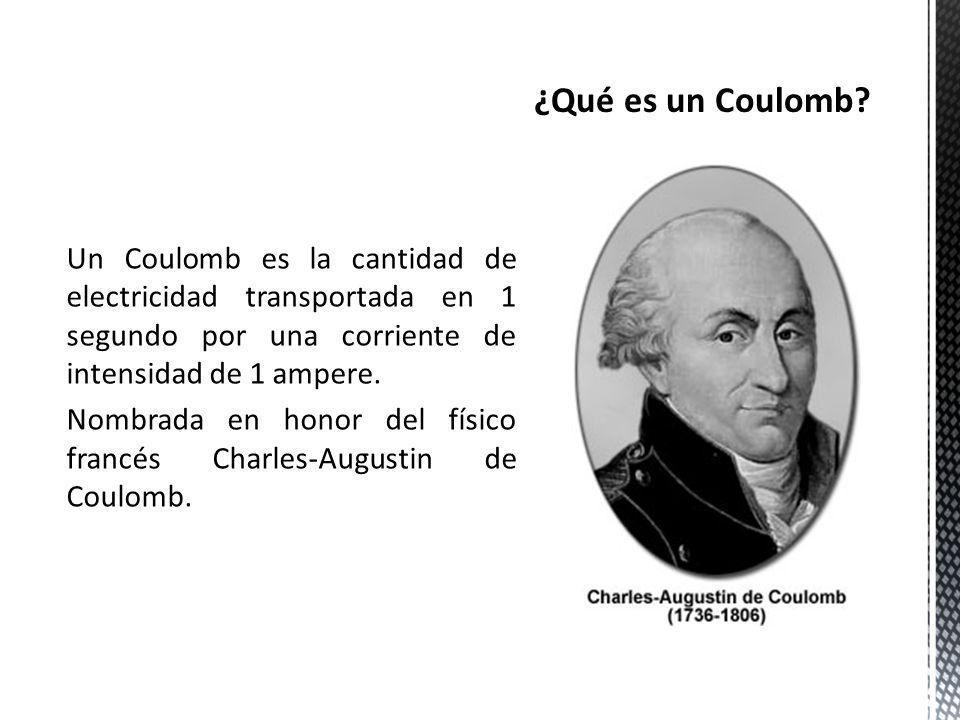 ¿Qué es un Coulomb