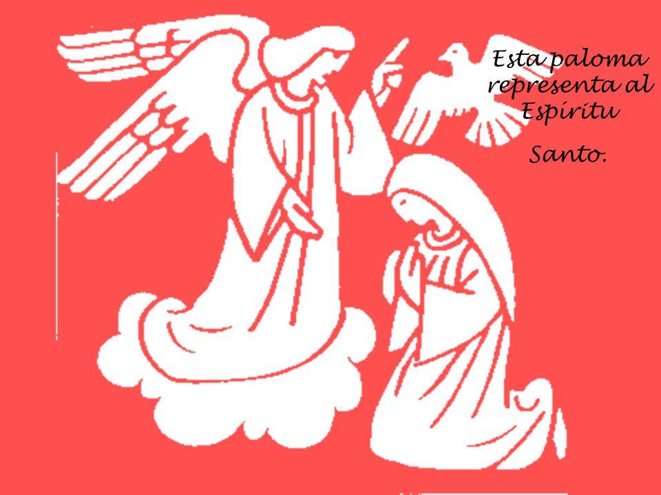 Esta paloma representa al Espíritu Santo.