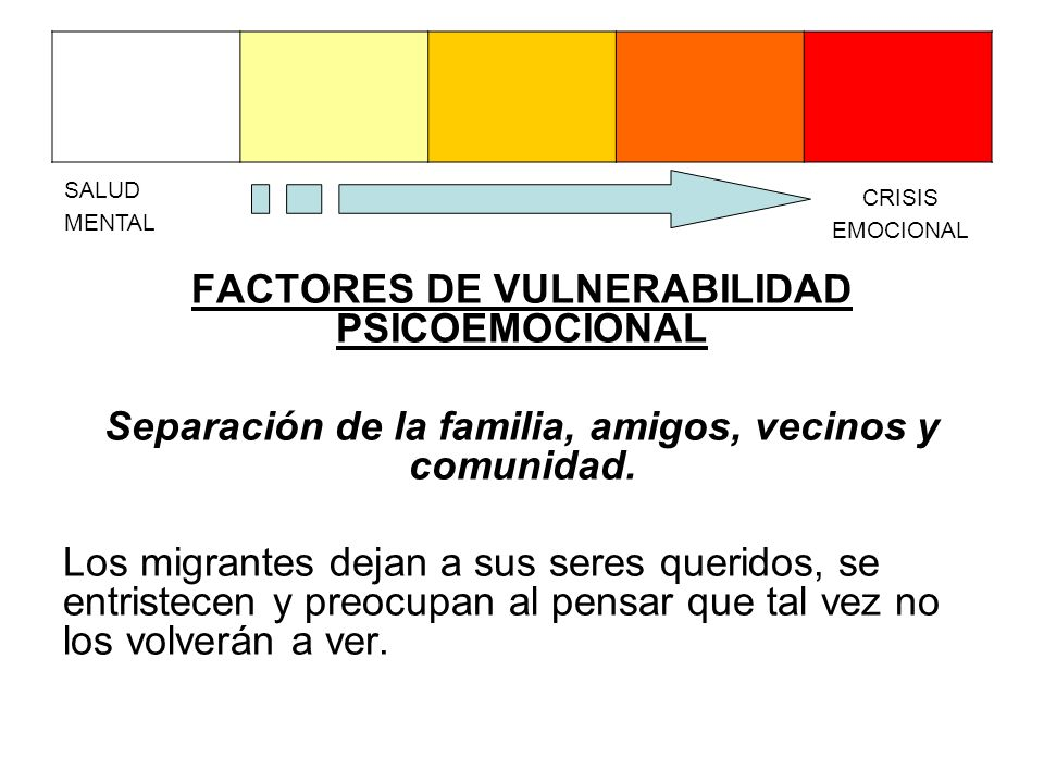 FACTORES DE VULNERABILIDAD PSICOEMOCIONAL
