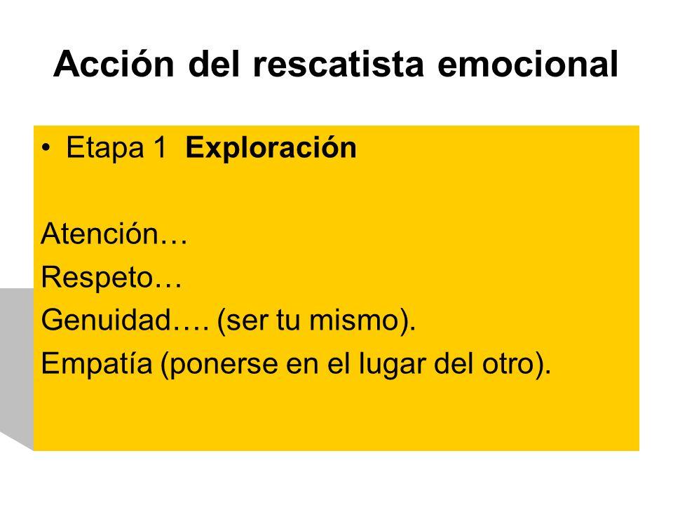 Acción del rescatista emocional