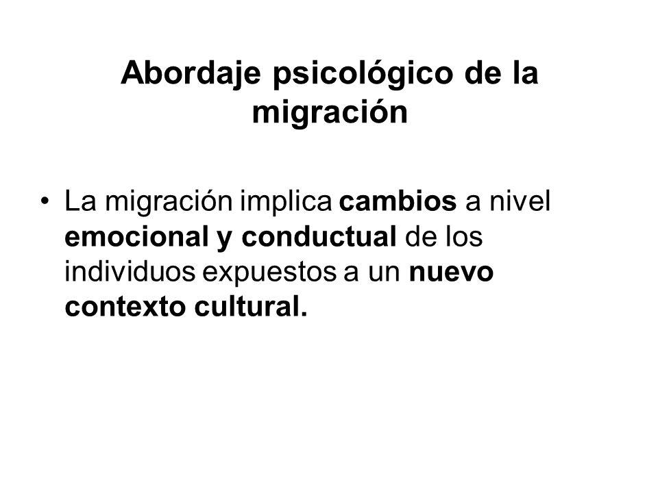 Abordaje psicológico de la migración