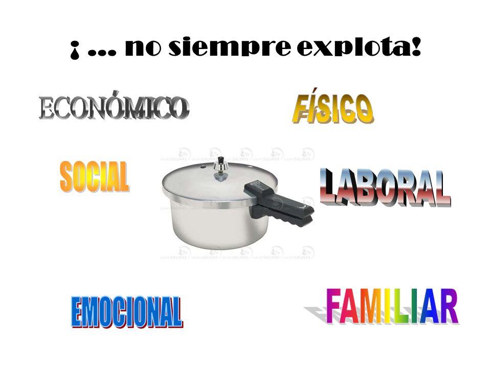 ¡ … no siempre explota! FÍSICO ECONÓMICO SOCIAL LABORAL FAMILIAR