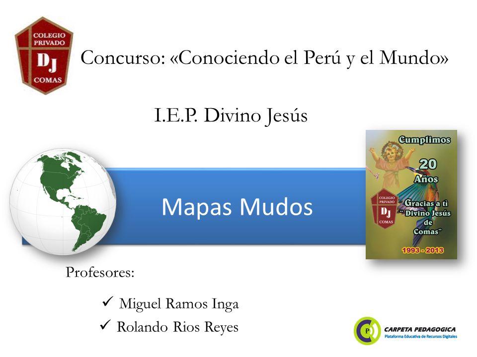 Concurso: «Conociendo el Perú y el Mundo»