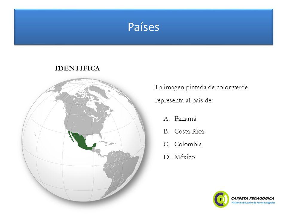Países IDENTIFICA La imagen pintada de color verde