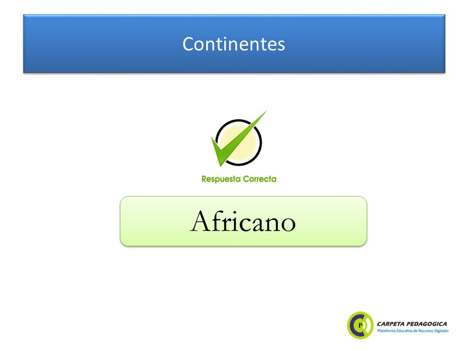 Continentes Africano