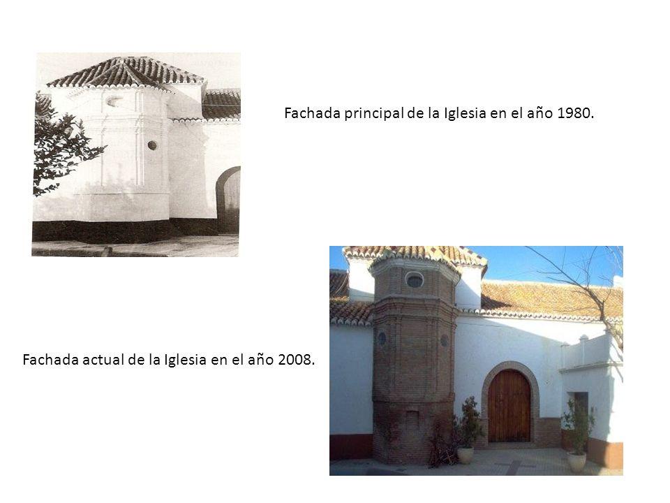 Fachada principal de la Iglesia en el año 1980.