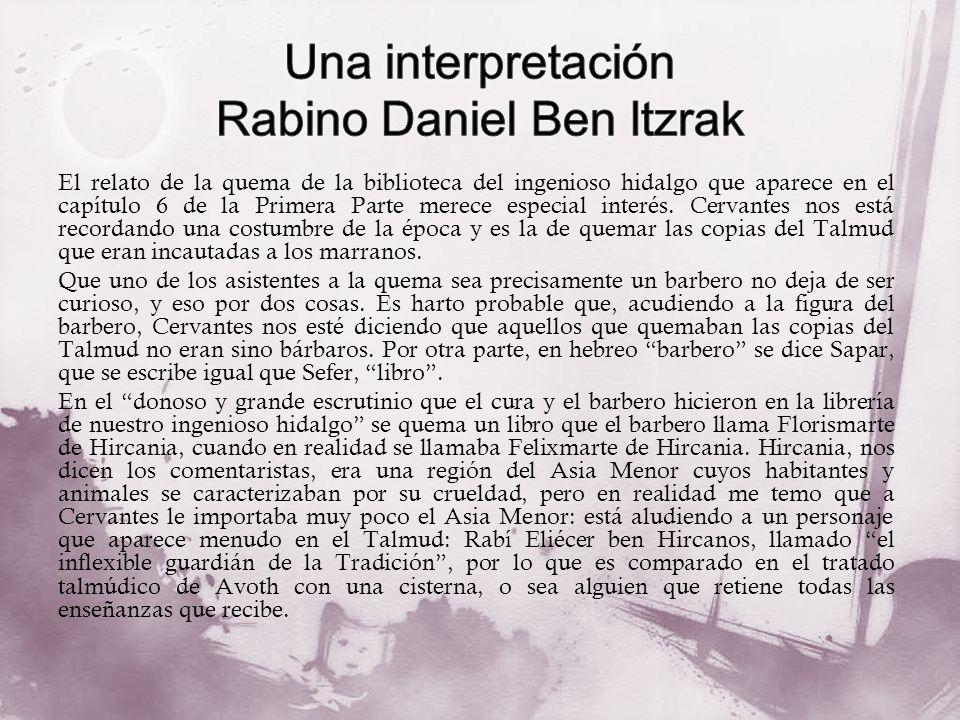 Una interpretación Rabino Daniel Ben Itzrak