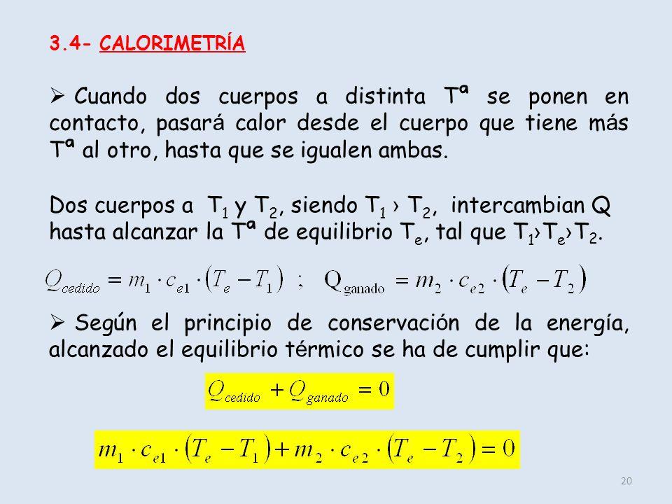 3.4- CALORIMETRÍA