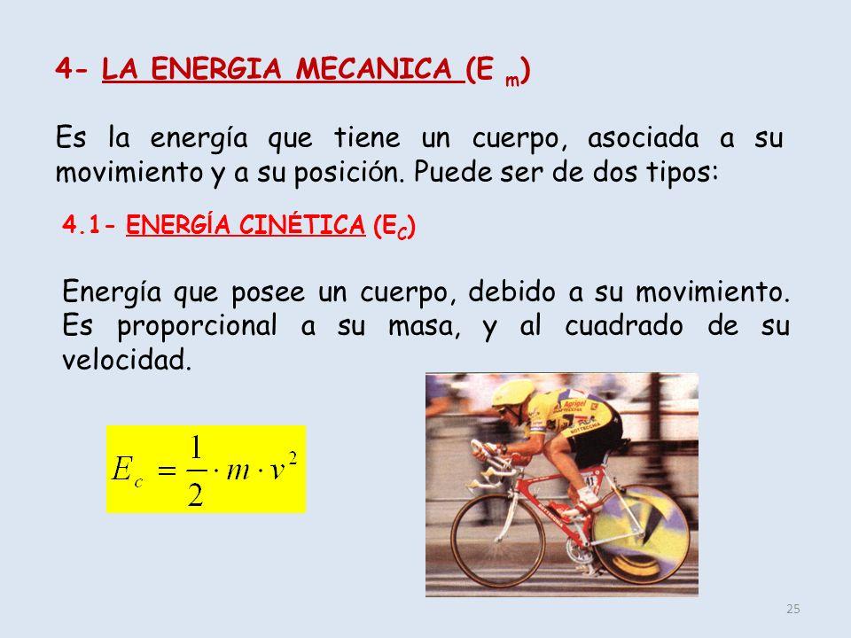 4- LA ENERGIA MECANICA (E m)