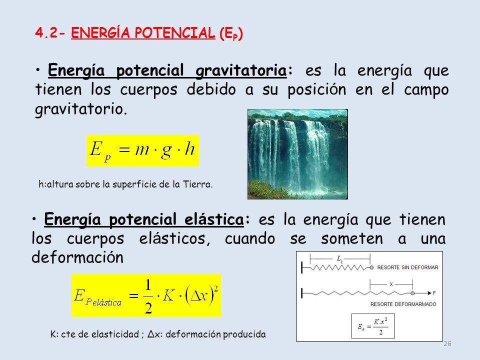 4.2- ENERGÍA POTENCIAL (EP)