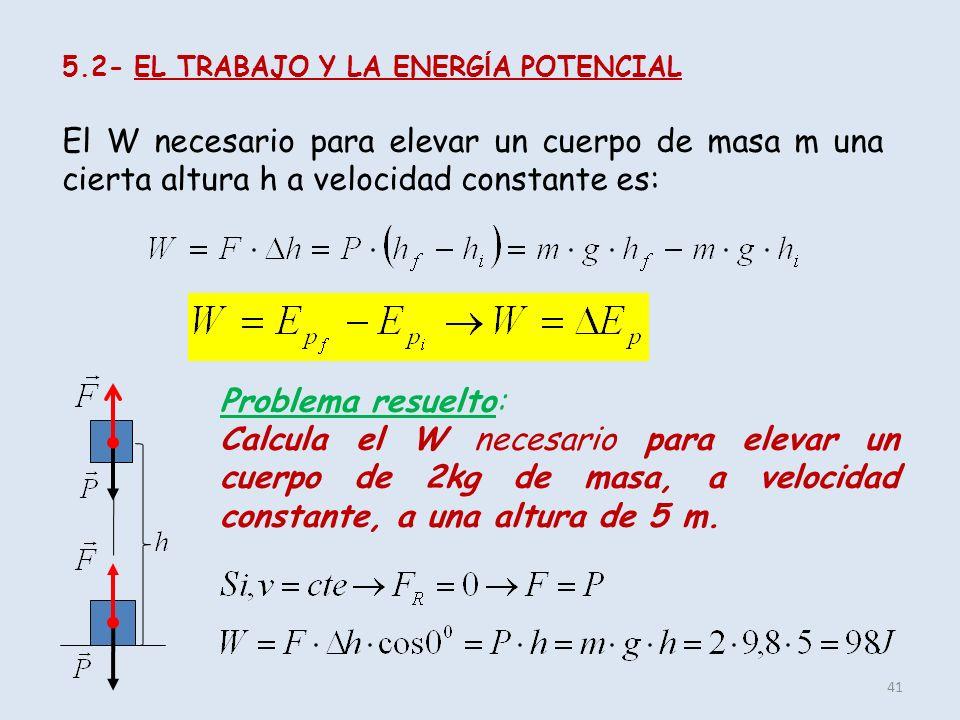 5.2- EL TRABAJO Y LA ENERGÍA POTENCIAL