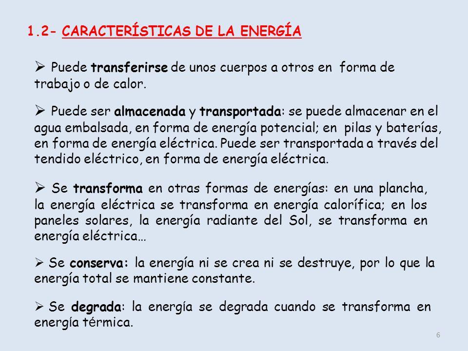1.2- CARACTERÍSTICAS DE LA ENERGÍA