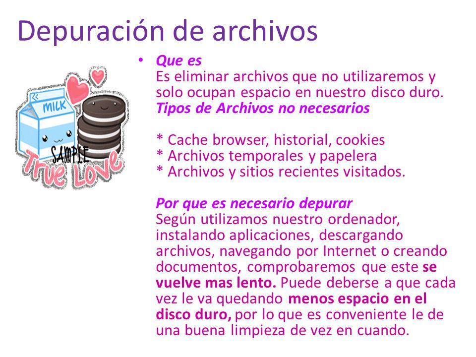 Depuración de archivos