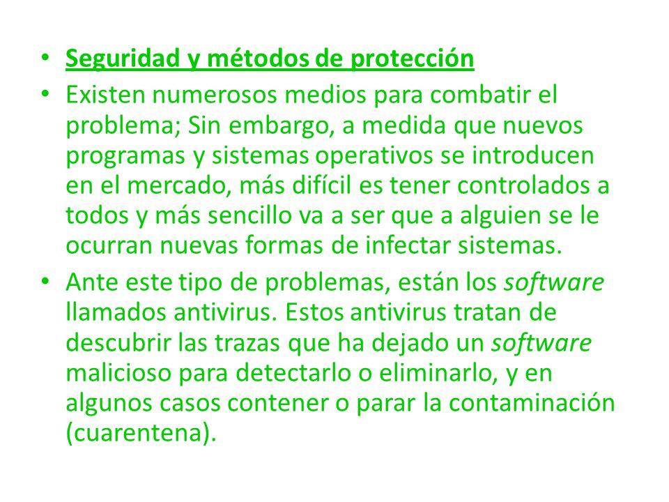 Seguridad y métodos de protección