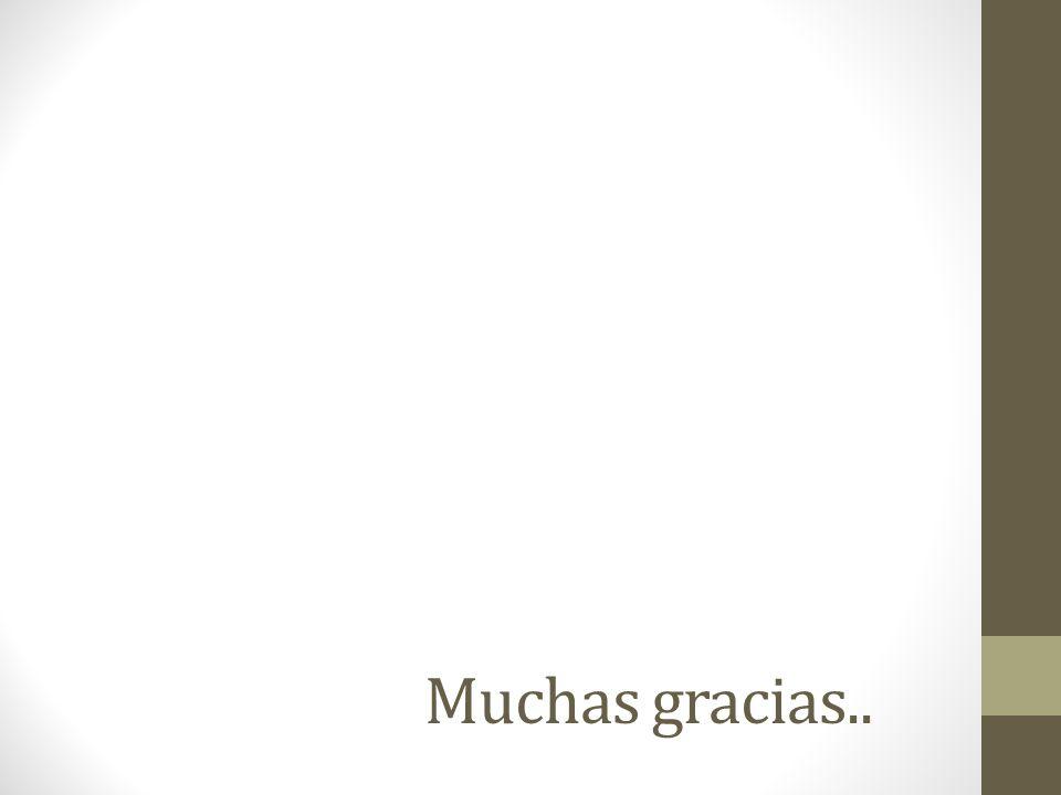 Muchas gracias..