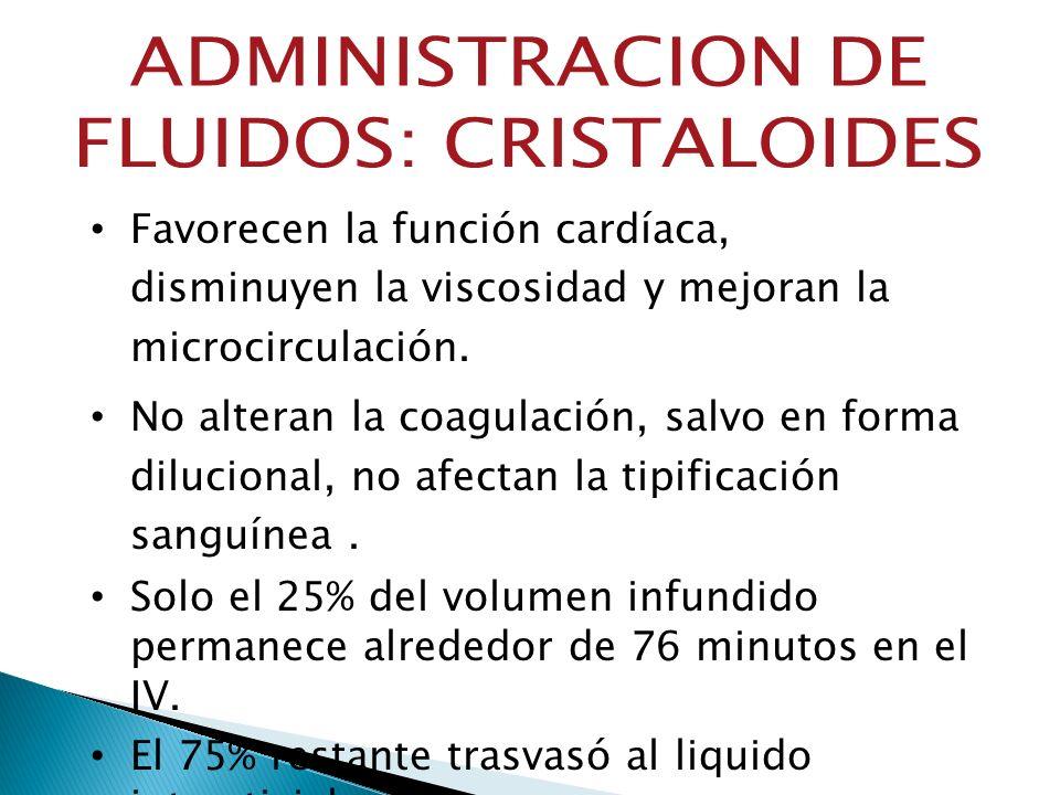 ADMINISTRACION DE FLUIDOS: CRISTALOIDES