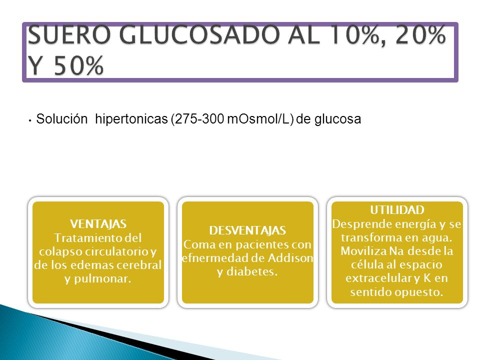 SUERO GLUCOSADO AL 10%, 20% Y 50%