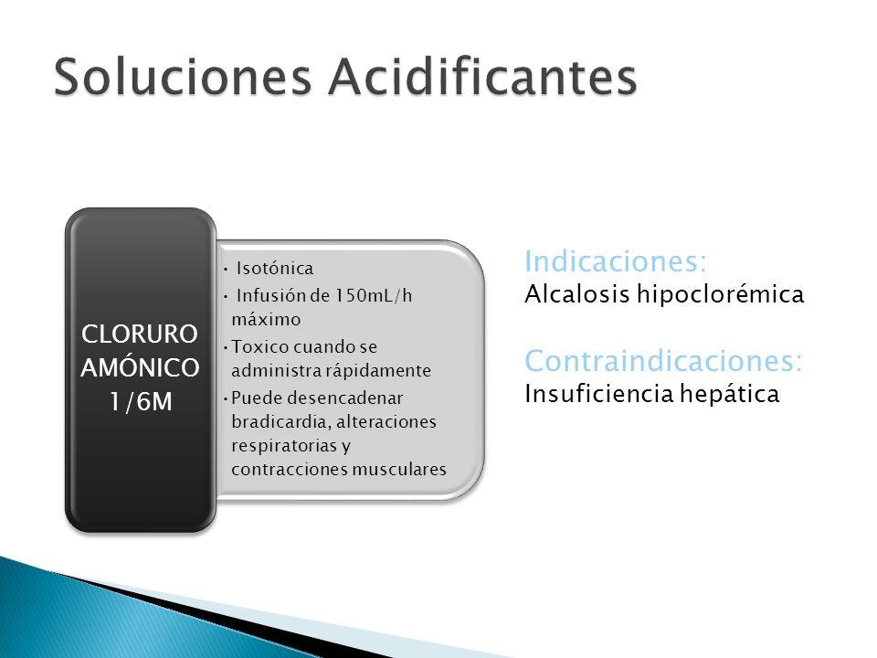Soluciones Acidificantes