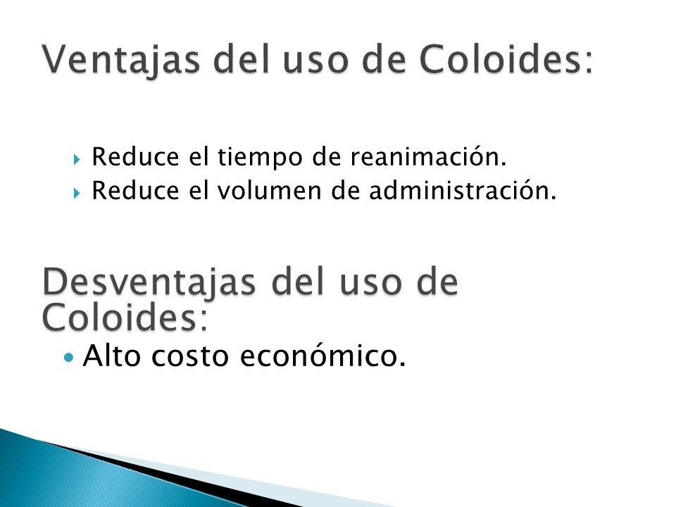 Ventajas del uso de Coloides: