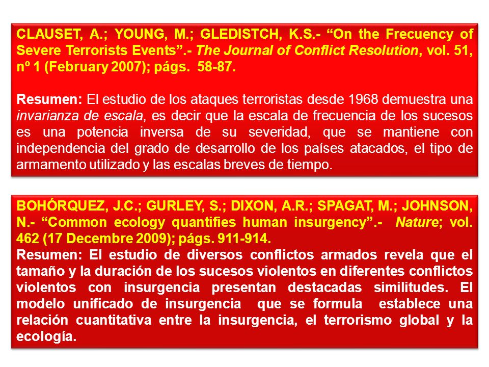 CLAUSET, A. ; YOUNG, M. ; GLEDISTCH, K. S