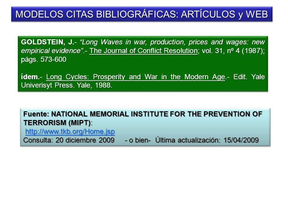 MODELOS CITAS BIBLIOGRÁFICAS: ARTÍCULOS y WEB