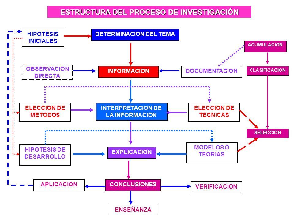 ESTRUCTURA DEL PROCESO DE INVESTIGACIÓN