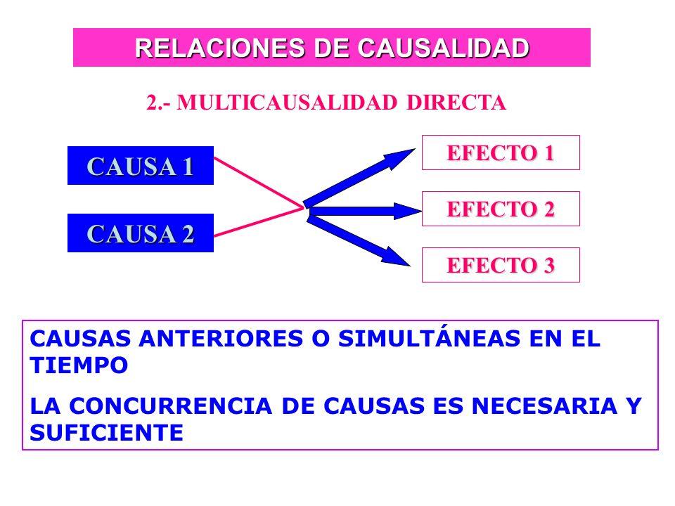 RELACIONES DE CAUSALIDAD 2.- MULTICAUSALIDAD DIRECTA