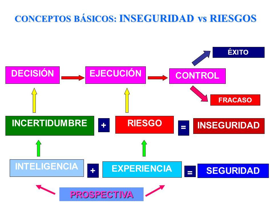 CONCEPTOS BÁSICOS: INSEGURIDAD vs RIESGOS