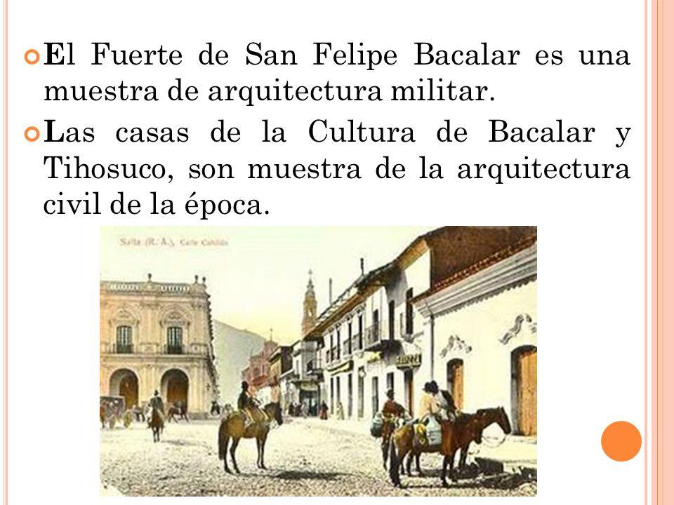 El Fuerte de San Felipe Bacalar es una muestra de arquitectura militar.