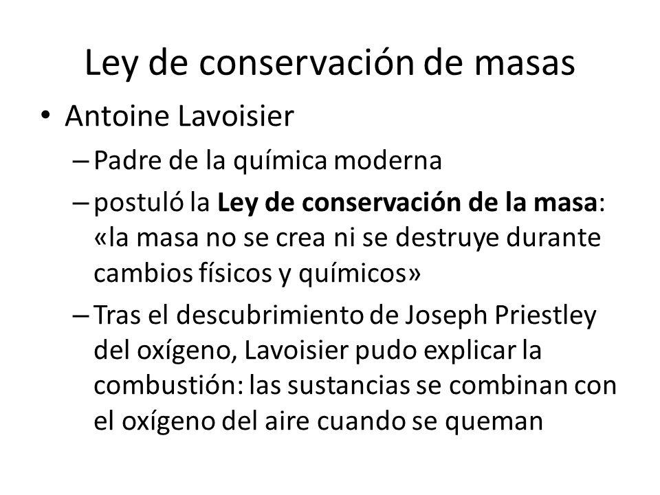 Ley de conservación de masas