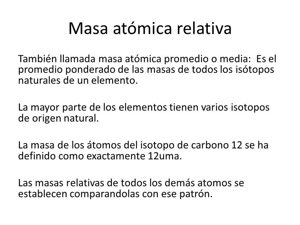 Masa atómica relativa
