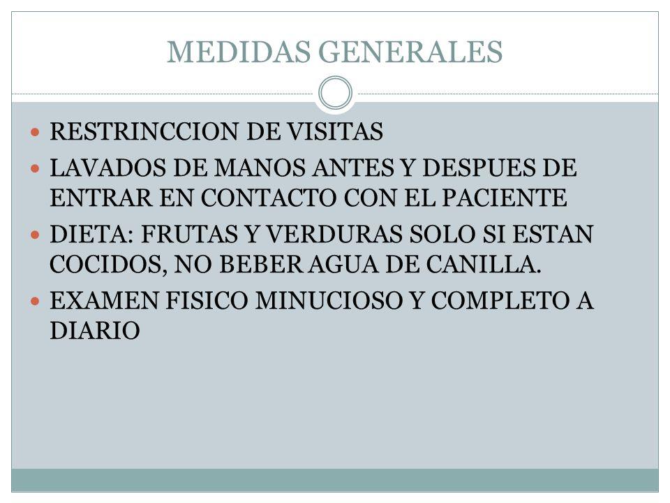 MEDIDAS GENERALES RESTRINCCION DE VISITAS