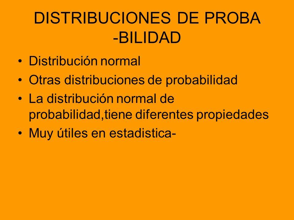 DISTRIBUCIONES DE PROBA -BILIDAD