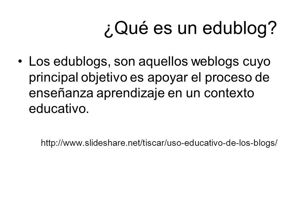 ¿Qué es un edublog
