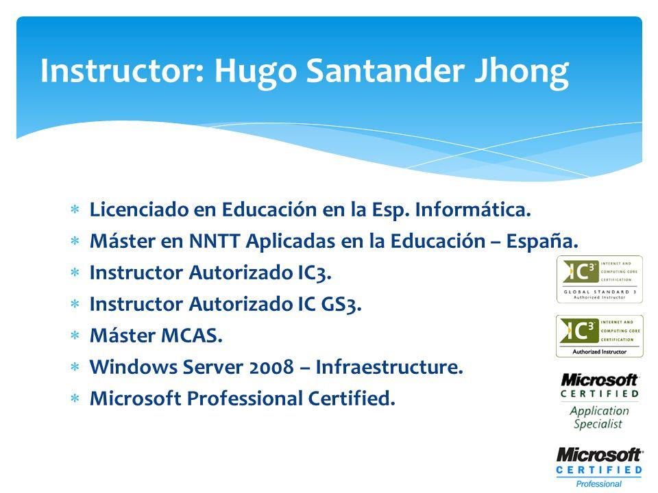 Instructor: Hugo Santander Jhong