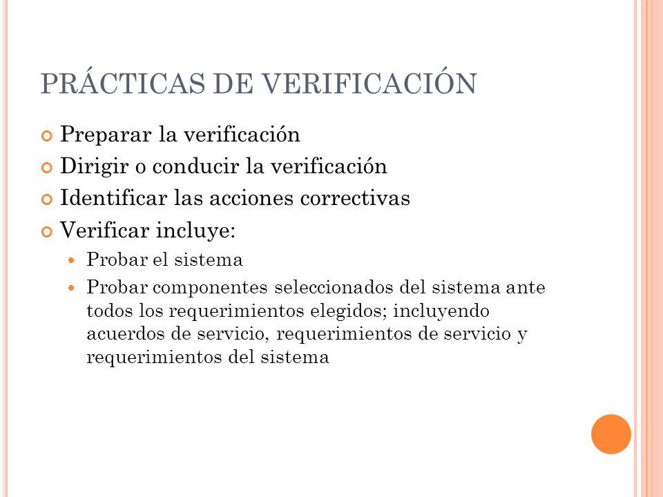 PRÁCTICAS DE VERIFICACIÓN
