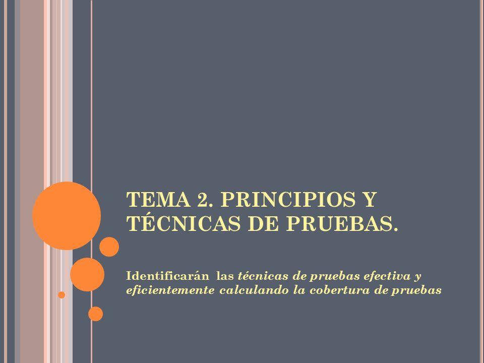 TEMA 2. PRINCIPIOS Y TÉCNICAS DE PRUEBAS.