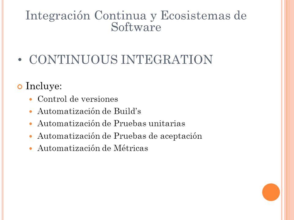Integración Continua y Ecosistemas de Software