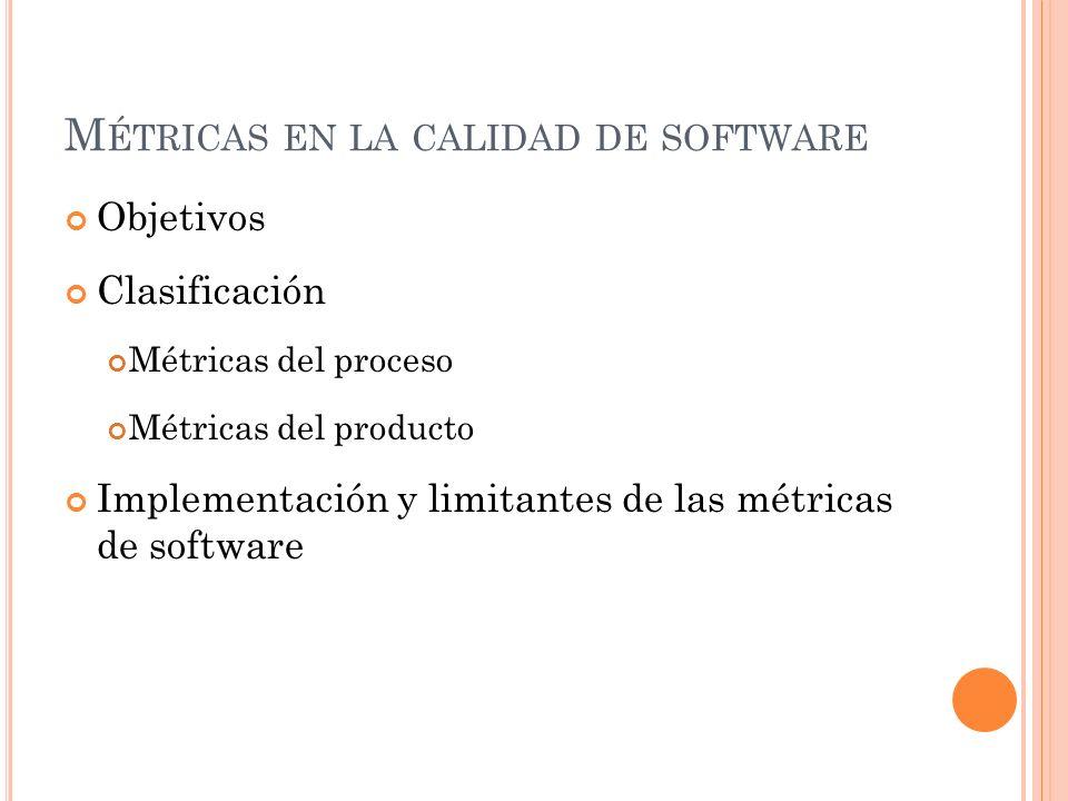 Métricas en la calidad de software