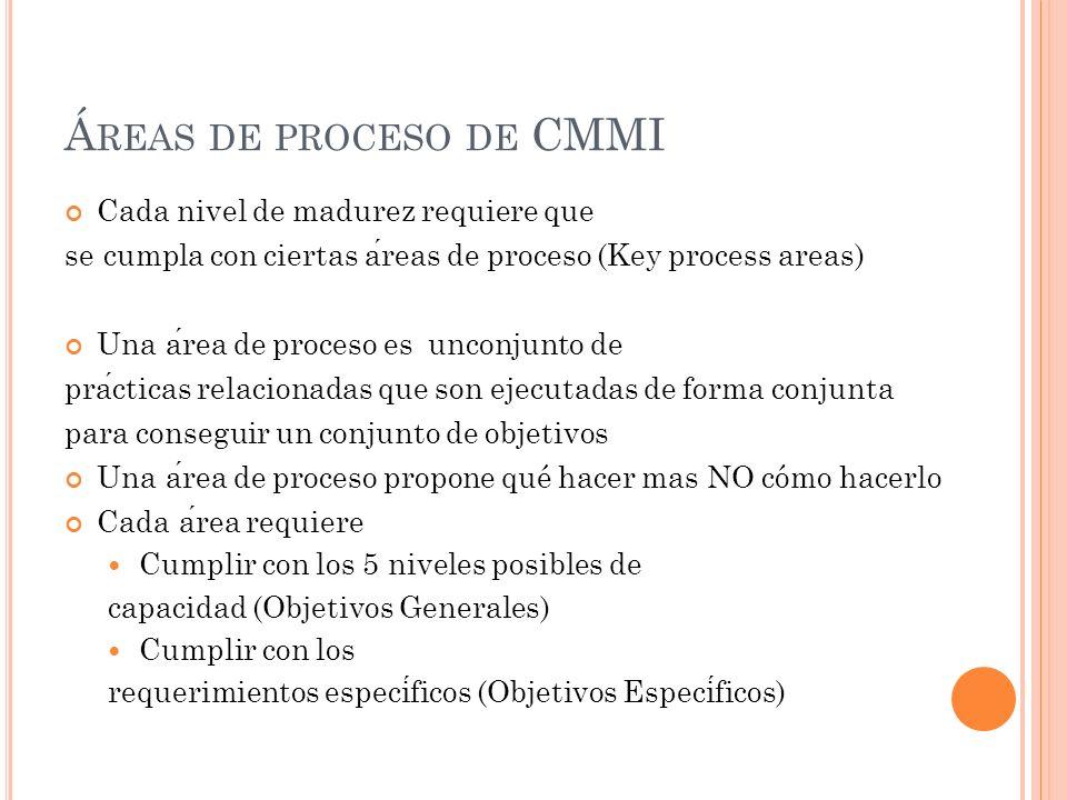 Áreas de proceso de CMMI